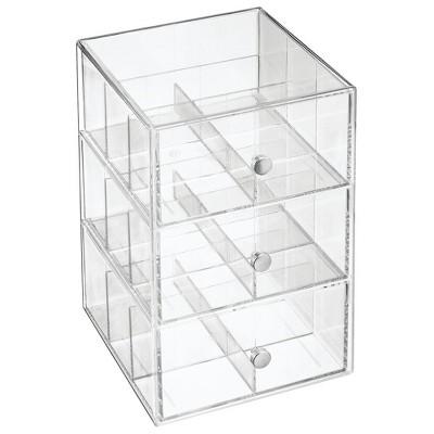 mDesign Plastic Kitchen Storage Tea Organizer, 3 Drawers -18 Sections