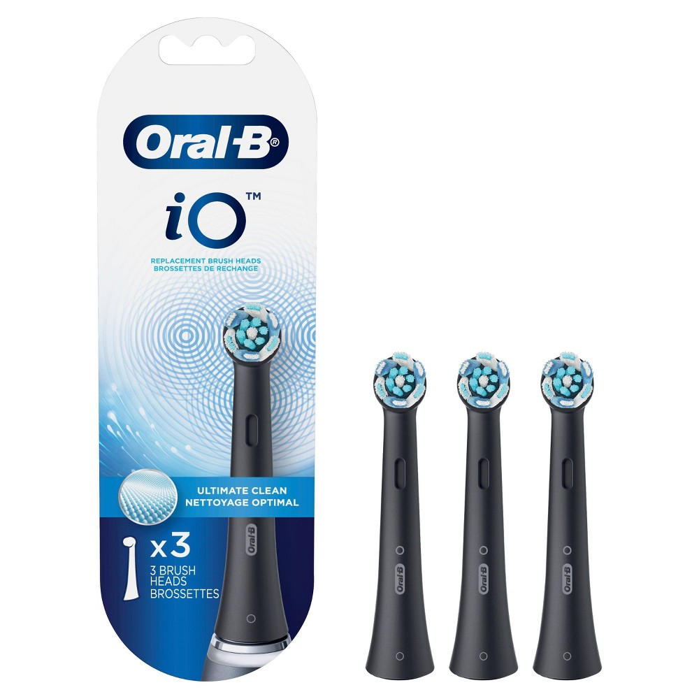 Oral B Io Ultimate Clean Replacements Brush Heads White 3ct