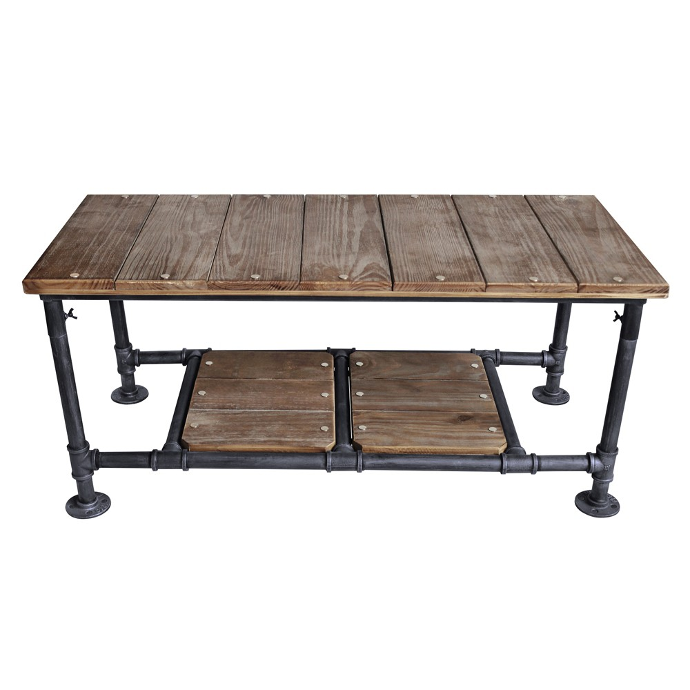 Image of Alamein Industrial Coffee Table Pine - Modern Home, Gray Brown