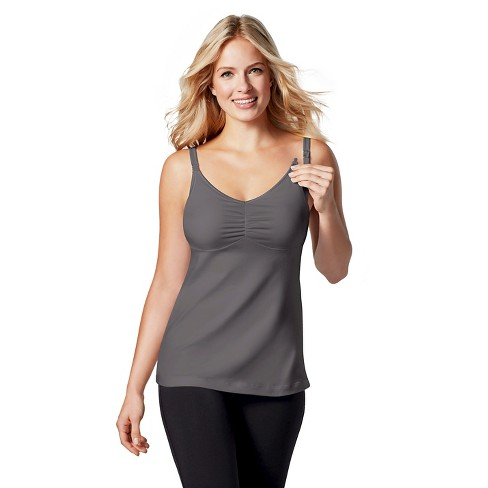 Bravado! Designs® Women's Dream Nursing Tank - Platinum 34D/E - image 1 of 2
