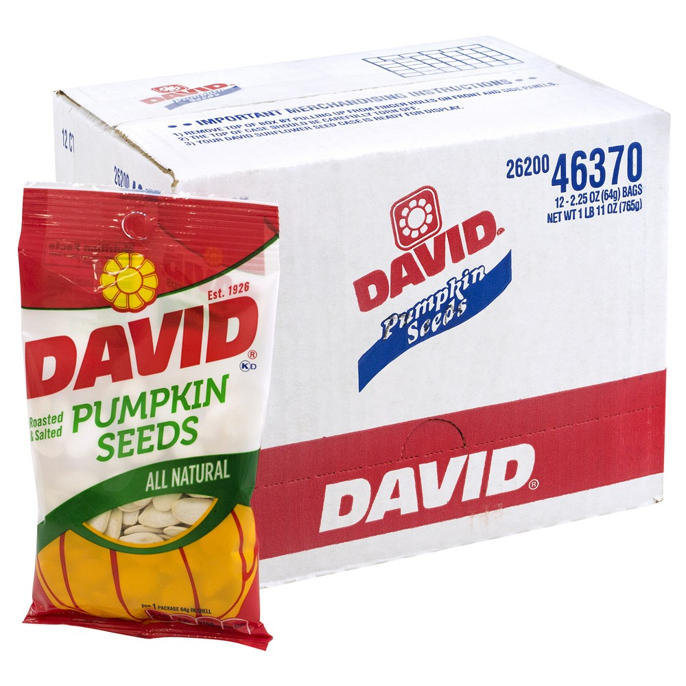 David Pumpkin seeds snack on the go