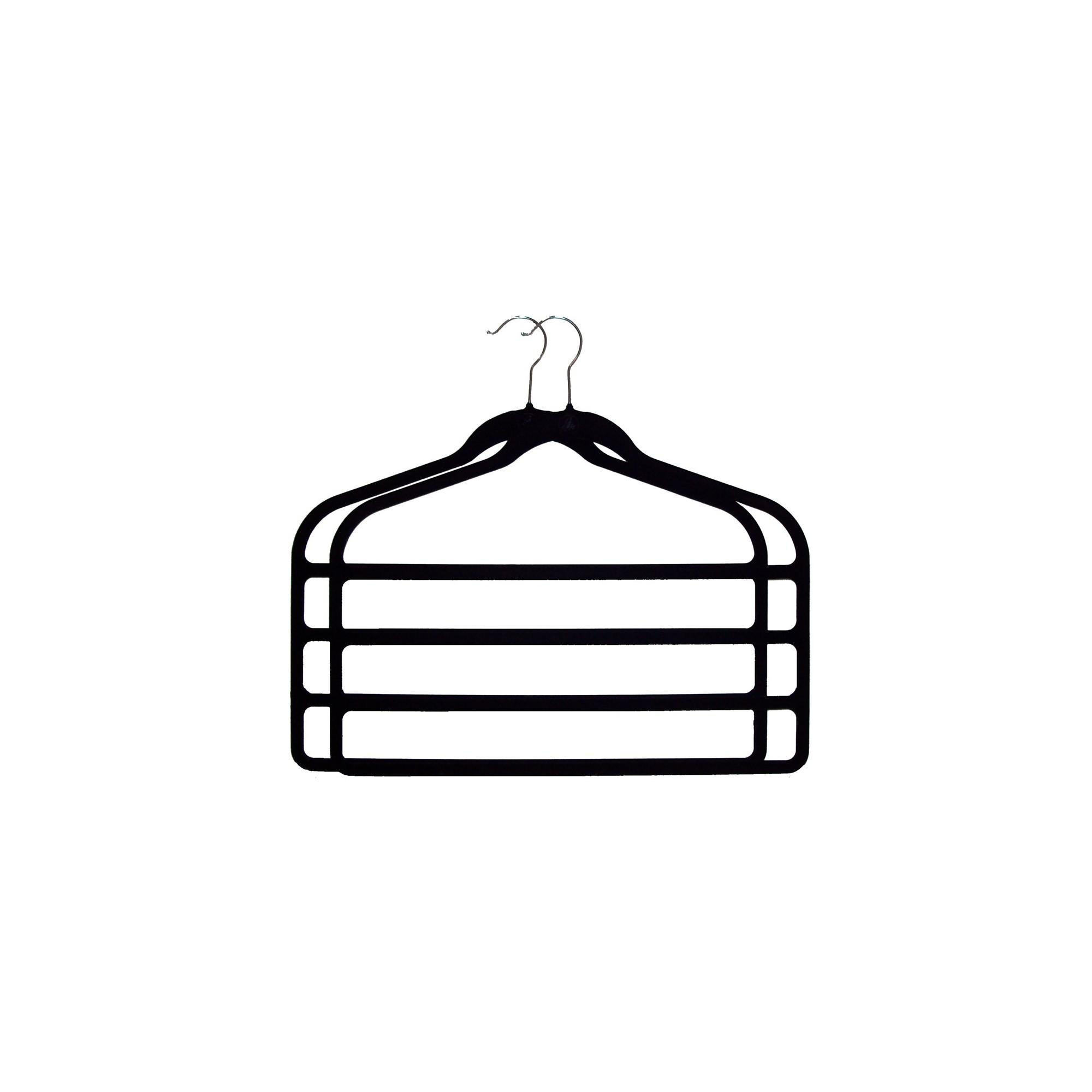 Huggable Hangers 2pc 4-Bar Hangers - Black