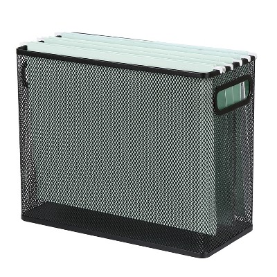 Mesh Hanging File Box Black - Made By Design™