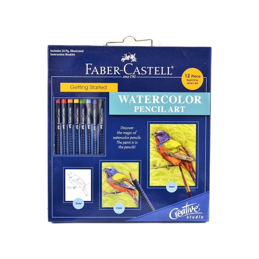 Image of Creative Studio Getting Started Watercolor Pencil Art Kit 12ct - Faber-Castell