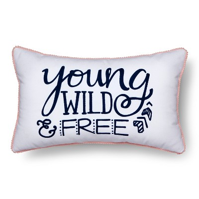 Wild & Free Throw Pillow - 20 x12  - Pillowfort™