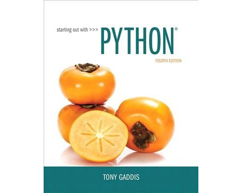 Starting Out With Python -  by Tony Gaddis (Paperback) - image 1 of 1