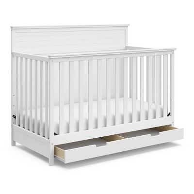 Storkcraft Homestead 4-in-1 Convertible Crib With Drawer - White