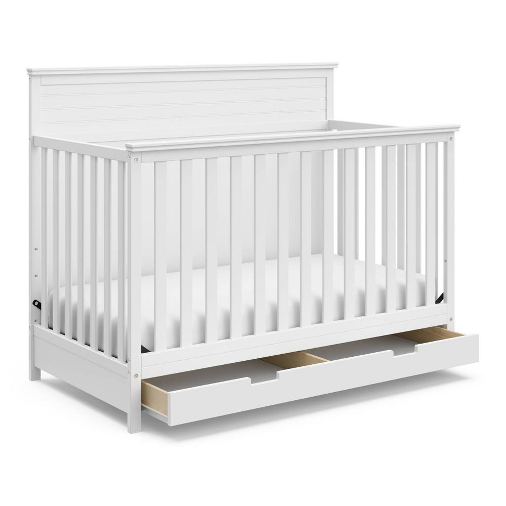 Storkcraft Homestead 4-in-1 Convertible Crib With Drawer - White Price