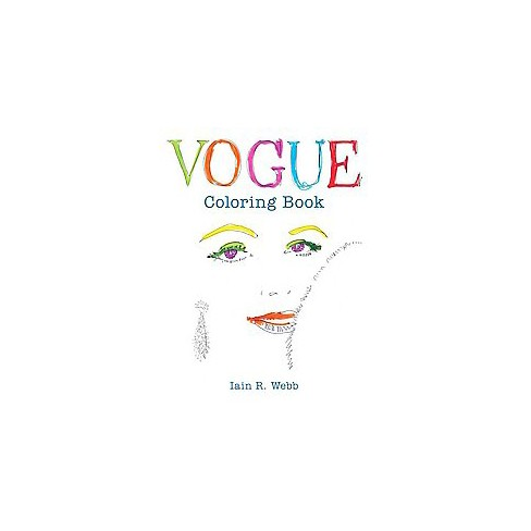 Vogue Adult Coloring Book By Iain R Webb Target