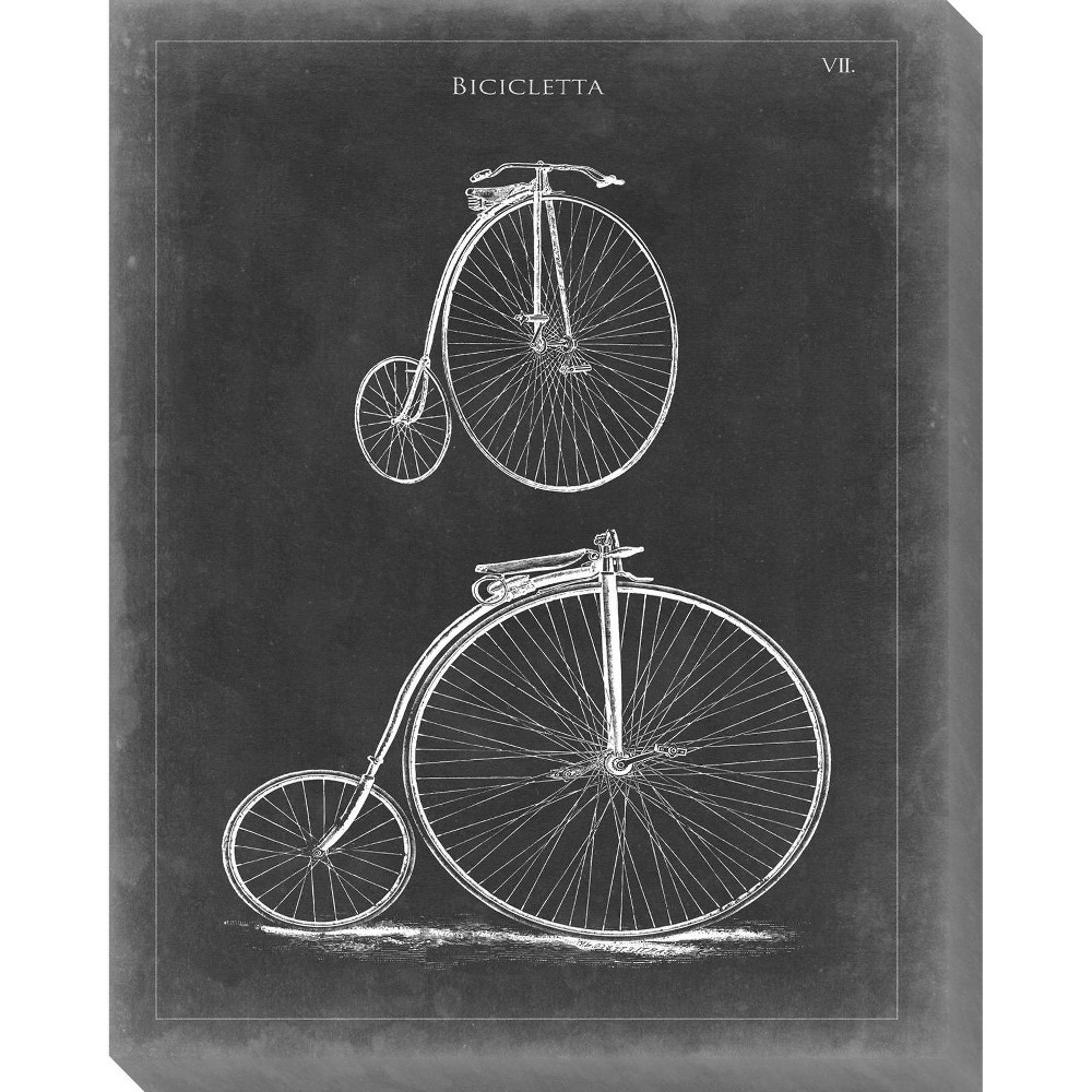 Image of Vintage Bicycle II Unframed Wall Canvas Art - (24X30)