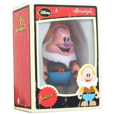 """MindStyle Disney Mindstyle Basix Beanz 3"""" Series 1 Vinyl Figure Happy"""