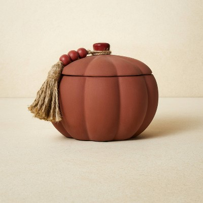 10oz Terracotta Pumpkin Red Candle - Opalhouse™ designed with Jungalow™