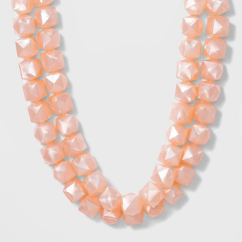 SUGARFIX by BaubleBar Bold Beaded Statement Necklace - Blush Pink - image 1 of 3