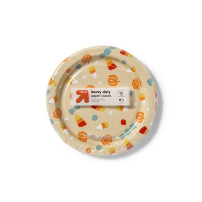 """Disposable Dinnerware Plate - Orange - 75ct - 7.0"""" - up & up™"""