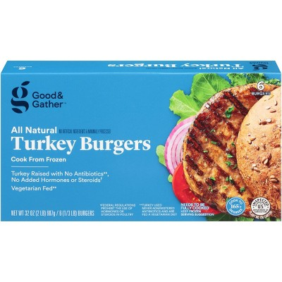 Turkey Patties - Frozen - 2lbs/6ct - Good & Gather™