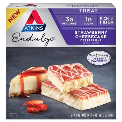 Atkins Endulge Desert Bar - Strawberry Cheesecake - 5ct