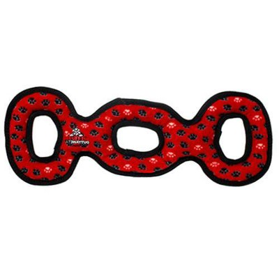 Tuffy Ultimate 3WayTug Paw Dog Toy - Red - M/L