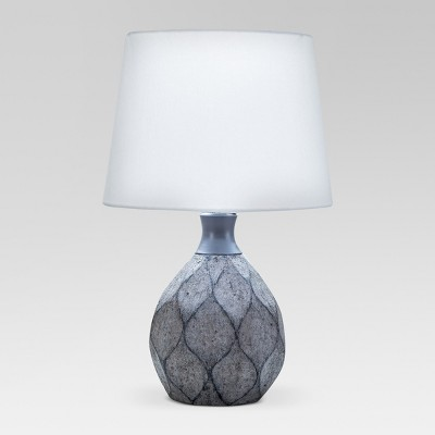 Textured Terra Cotta Teardrop Accent Lamp Gray Includes Energy Efficient Light Bulb - Threshold™