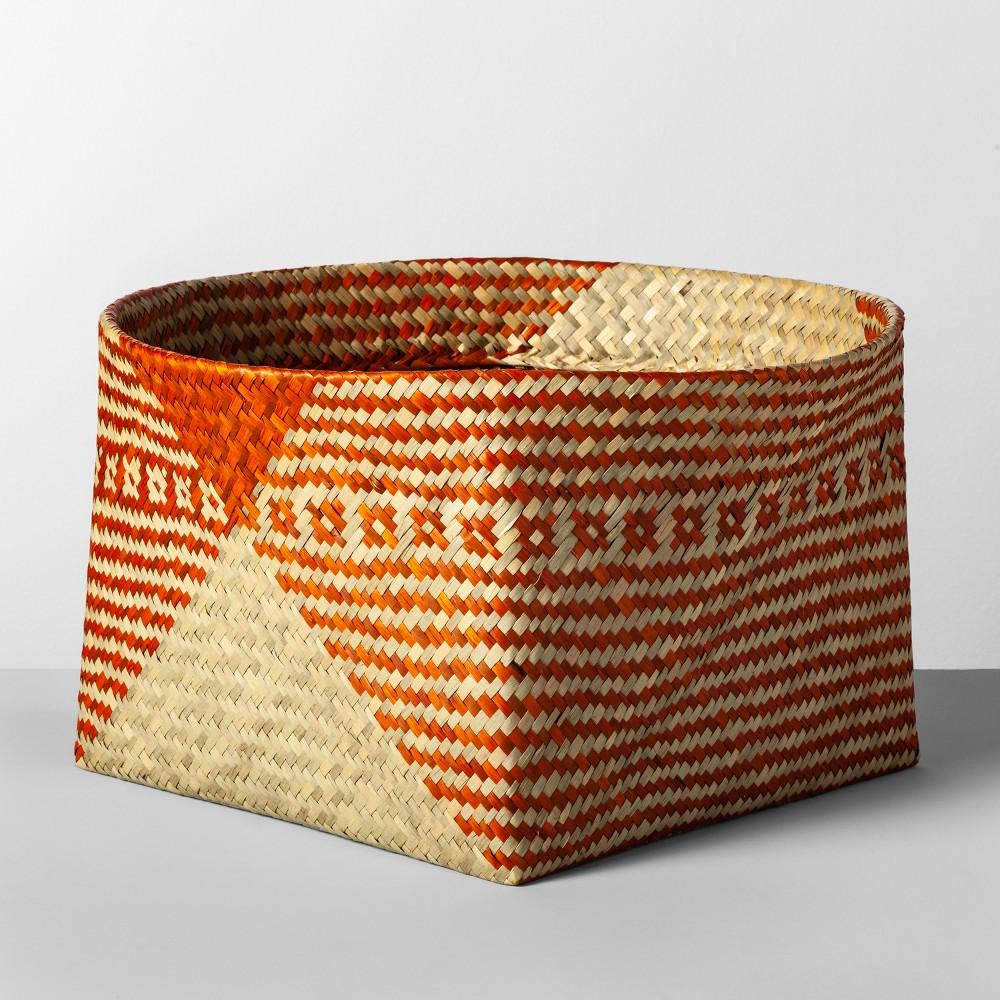 """Image of """"10.83""""""""x17.7"""""""" Decorative Palm Leaf Basket Orange - Opalhouse"""""""