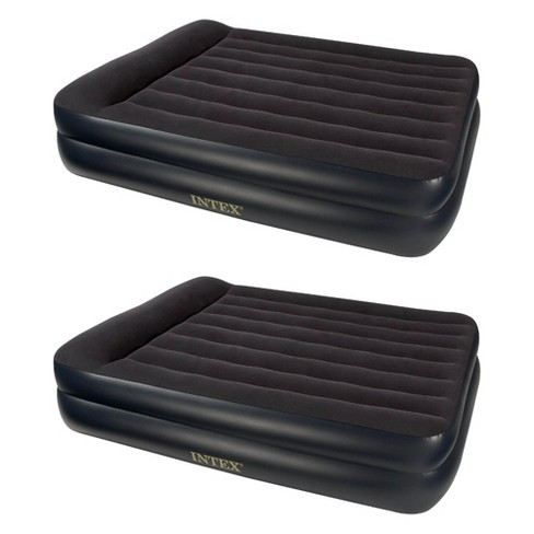 Intex Pillow Rest Queen Size Air Bed Mattress with Built In Air Pump (2 Pack) - image 1 of 4
