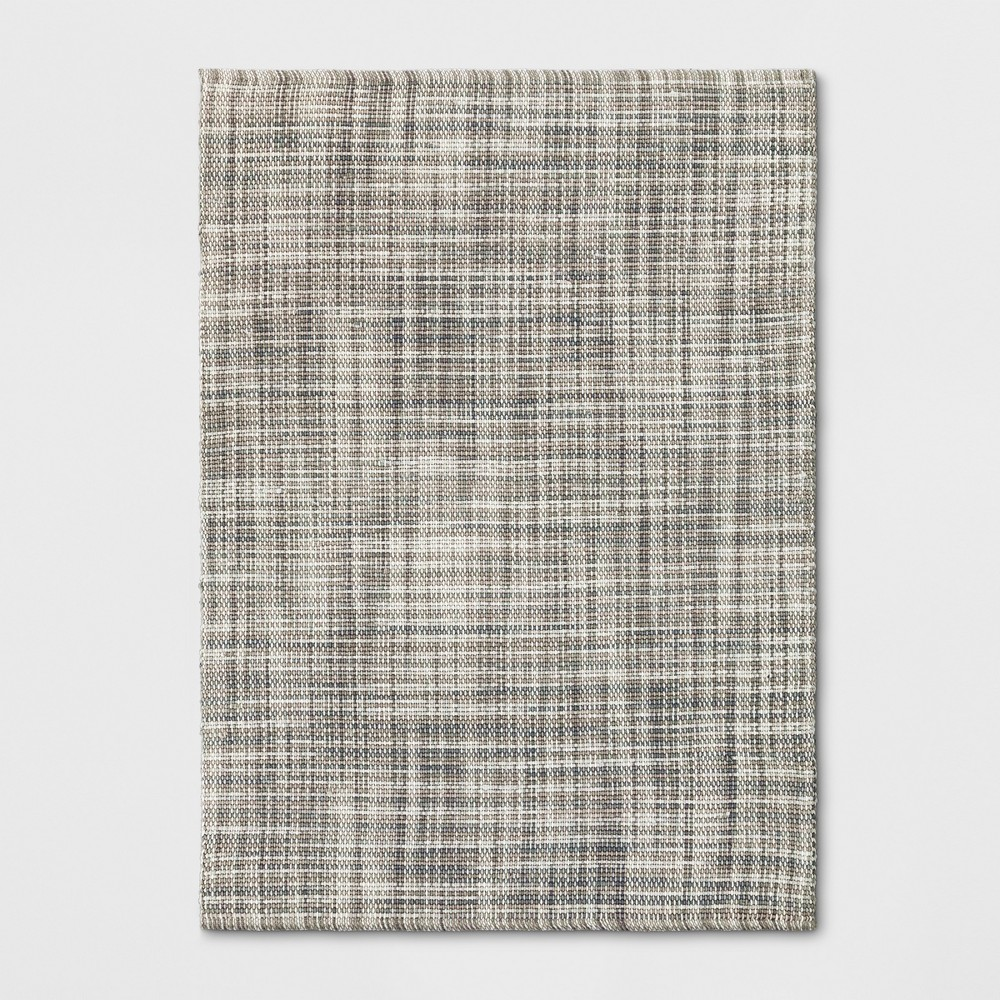 5 39 X7 39 Basketweave Tie Dye Design Area Rug Gray Project 62 8482