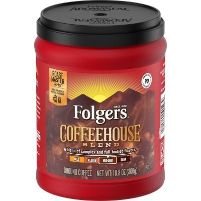 Folgers Coffee House Roast Ground Medium Dark Roast Coffee - 12oz