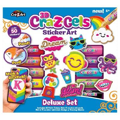 CraZArt 3D CraZGels Sticker Art Set