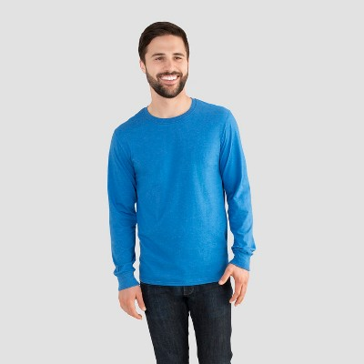 ecddb48ab7137 Fruit of the Loom Men s Long Sleeve T-Shirt – Blue L – Target ...