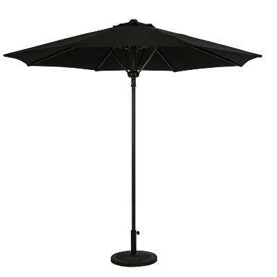9' Cabo II Spring-Up Market Patio Umbrella Black - Island Umbrella