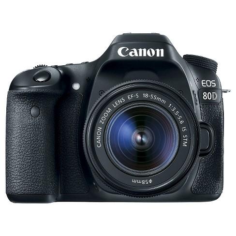 Canon 80D EF-S18-55mm IS KIT DSLR Camera - Black (1263C005) - image 1 of 4