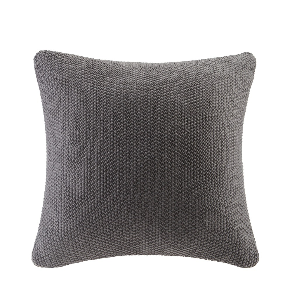 "Image of ""Bree Knit Throw Pillow Black, Size: 20""""x20"""""""