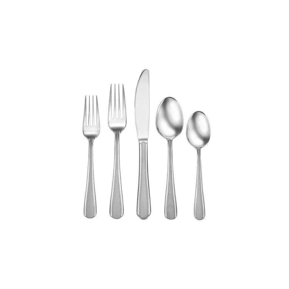 Image of 20pc Stainless Steel Satin Eastlyn Silverware Set - Studio Cuisine