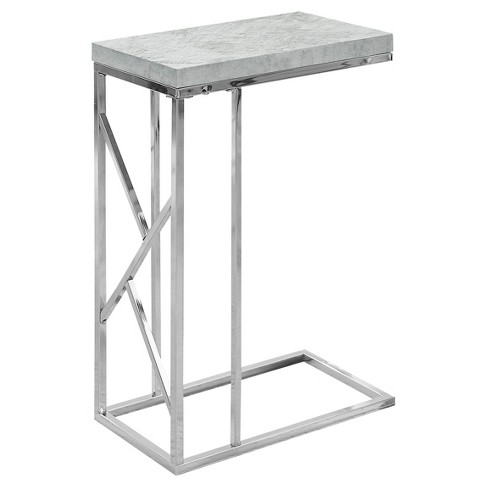 Accent Table - Chrome Metal, Gray - EveryRoom - image 1 of 2