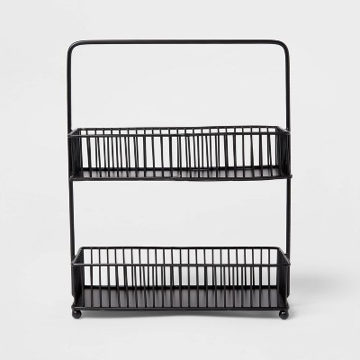 Iron 2-Tier Wire Spice Rack Black - Threshold™