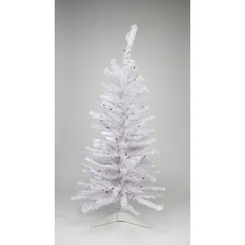 Pink Artificial Christmas Tree.Northlight 4 Prelit Artificial Christmas Tree White Iridescent Pine Pink Purple Lights
