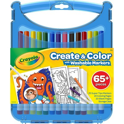 Crayola 65pc Create & Color Art Case with Washable Markers