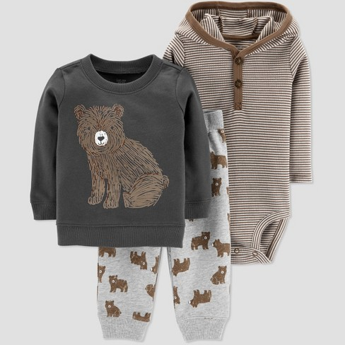 f698d5f8b Baby Boys  Bear 3pc Set - Just One You® Made By Carter s Brown   Target