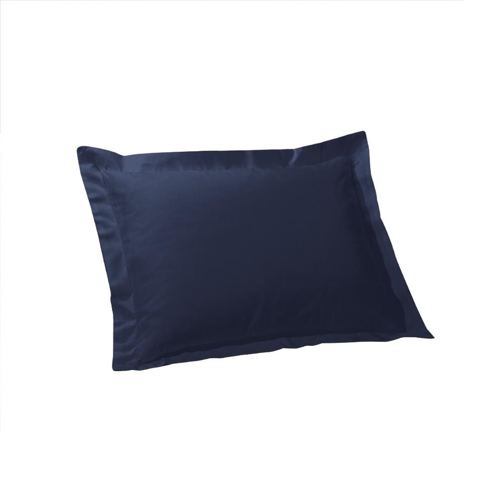 Image of Tailored Euro Sham - Navy (Euro), Blue