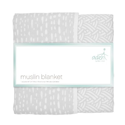 aden by aden + anais Muslin Blanket - Pasture - Gray