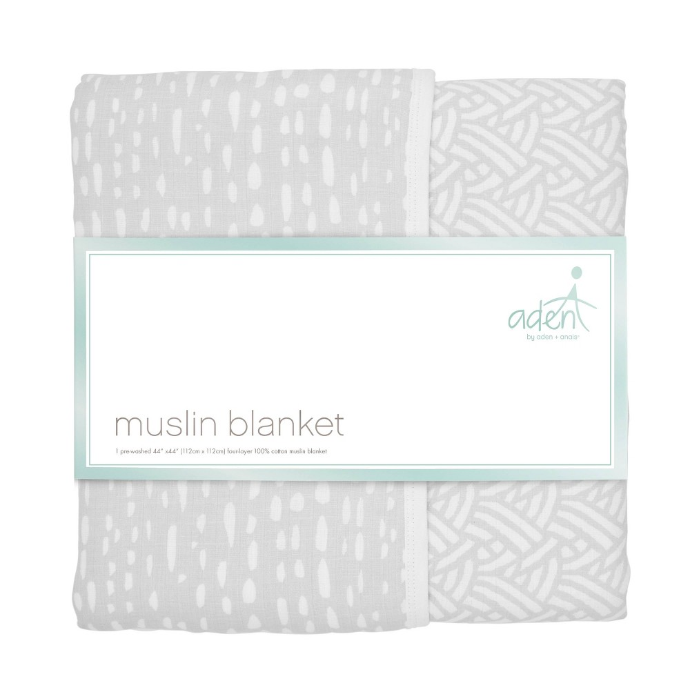 Image of aden by aden + anais Muslin Blanket - Pasture - Gray, Gray Pasture