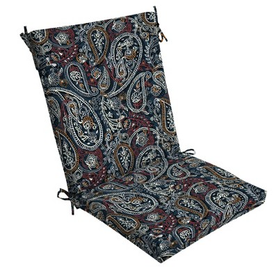 Palmira Paisley Outdoor Chair Cushion Blue - Arden Selections