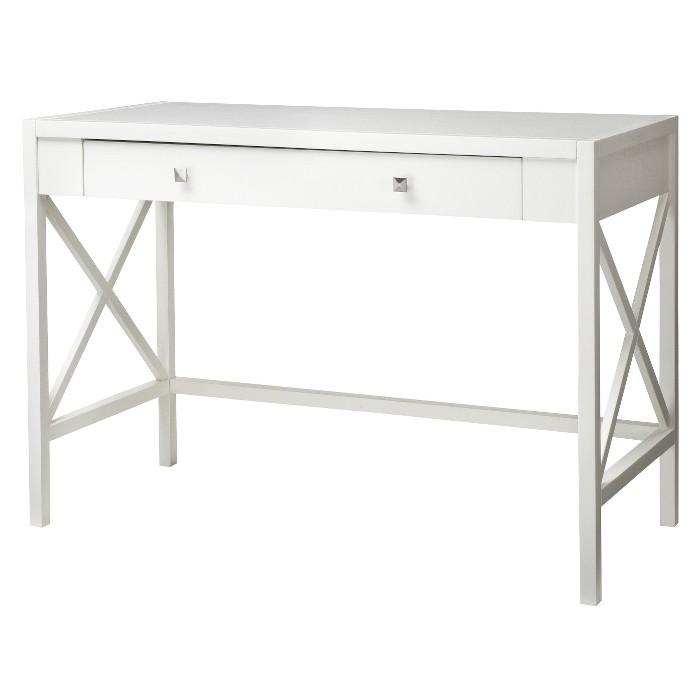 X Slat Office Desk White Hamilton - Threshold™ - image 1 of 3