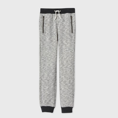 Boys' Cozy French Terry Knit Jogger Pants - Cat & Jack™ Gray