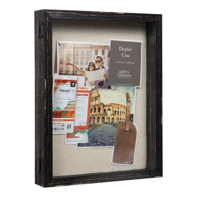 Distressed 12X15 Black Shadow Box - Gallery Solutions