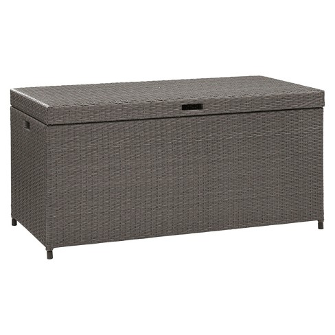 Palm Harbor Outdoor Wicker Storage Bin - Gray - Crosley - image 1 of 5