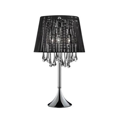 OK Lighting Nightfall Crystal Table Lamp