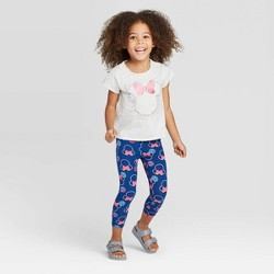 Toddler Girls' Disney Minnie Mouse Top And Leggings Set - Gray