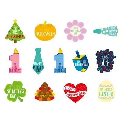 Pearhead Baby's First Holiday Stickers - 13ct