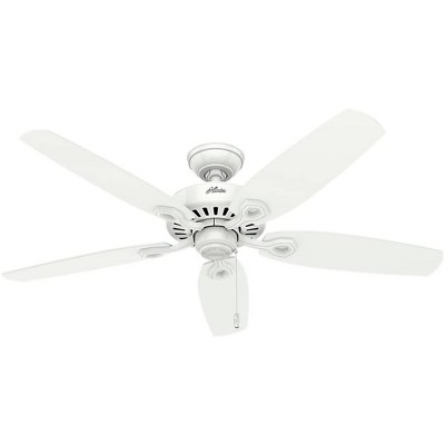 Hunter Fan Company 53240 Builder Elite Traditional 52 Inch Ultra Quiet Indoor Home Ceiling Fan with Pull Chain Control without Lights, White