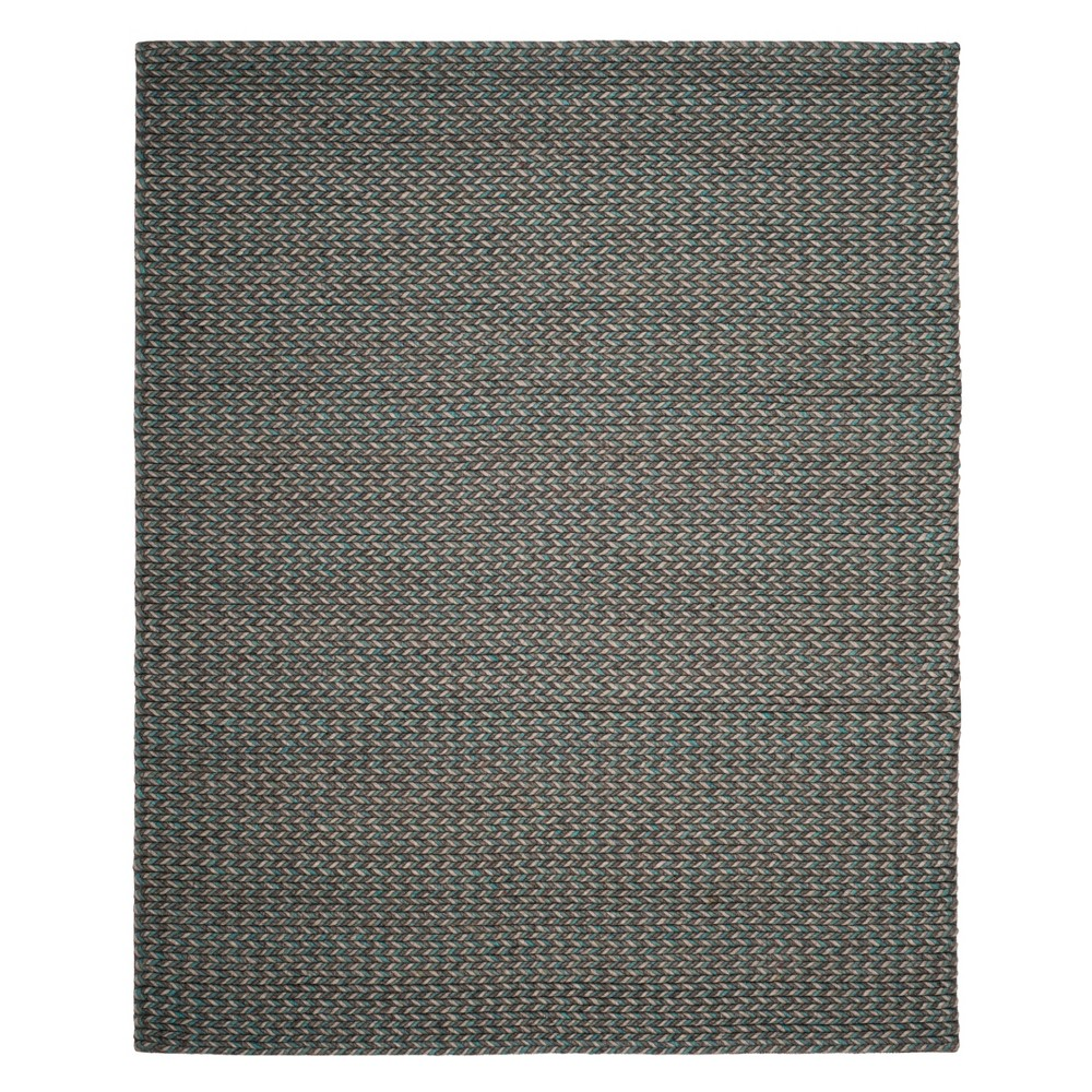 8'X10' Solid Area Rug Turquoise/Gray - Safavieh
